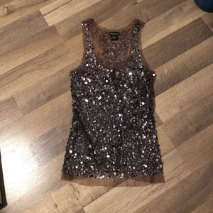 Sequin holiday top